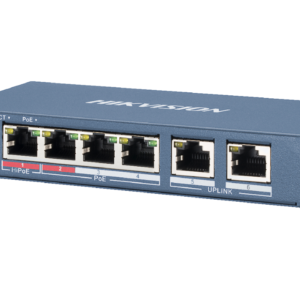 HIKVISION DS-3E0106HP-E PRO SERIES DUAL UPLINK 60W 4 PORT 100M LONG RANGE POE SWITCH