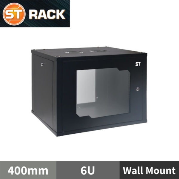 "ST RACK WM0664 Wall Mount Rack Enclosure 19"" - 400mm DEPTH (6U)"