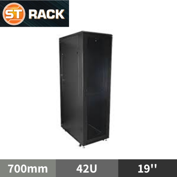 ST RACK FS4267 Floor Standing Rack Enclosure 19'' - 700mm DEPTH (42U)