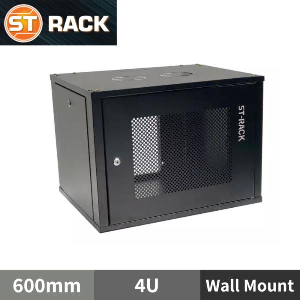 "ST RACK WM0466 Wall Mount Rack Enclosure 19"" - 600mm DEPTH (4U)"