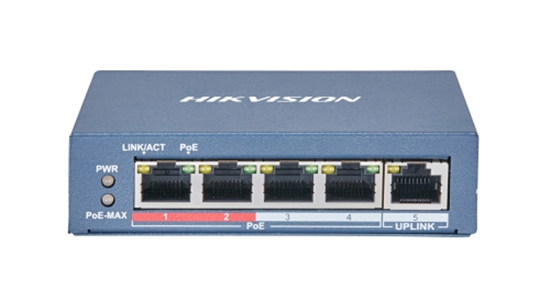HIKVISION DS-3E0105P-E/M(B) VALUE SERIES35W 4 PORT 100M LONG RANGE POE SWITCH