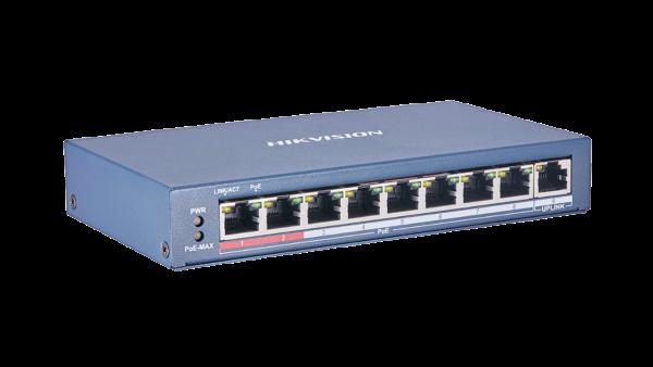 HIKVISION DS-3E0109P-E(C) PRO SERIES 115W 8 PORT 100M LONG RANGE POE SWITCH