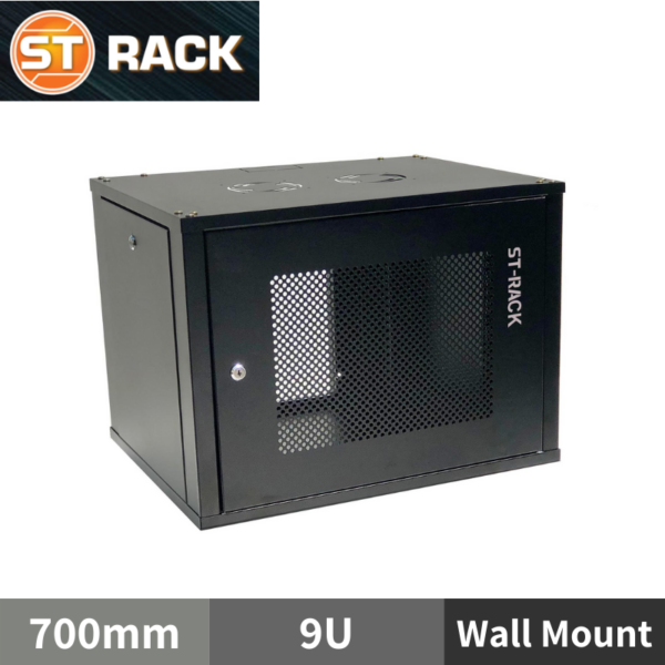 "ST RACK WM0967 Wall Mount Rack Enclosure 19"" - 700mm DEPTH (9U)"