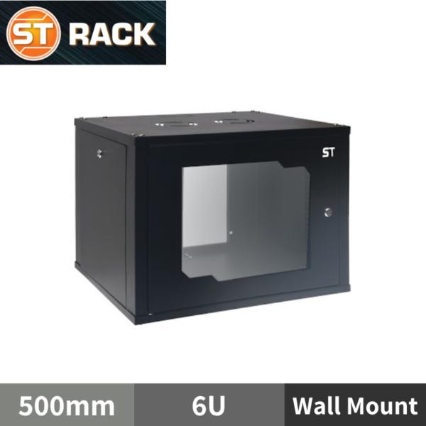 "ST RACK WM0665 Wall Mount Rack Enclosure 19"" - 500mm DEPTH (6U)"