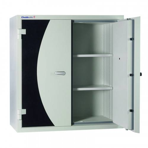 CHUBB DOCUMENT PROTECTION CABINET - SECURED BY KEYLESS COMBINATION LOCK & KEY LOCK M400W