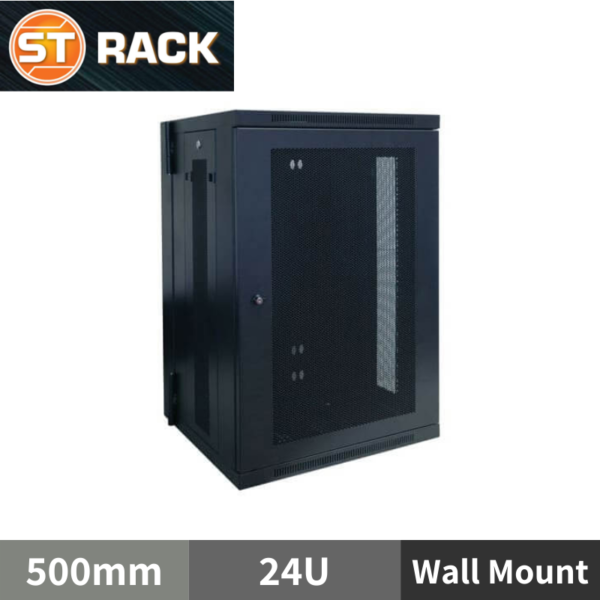 ST RACK WM2465 Wall Mount Rack Enclosure 19'' - 500mm DEPTH (24U)