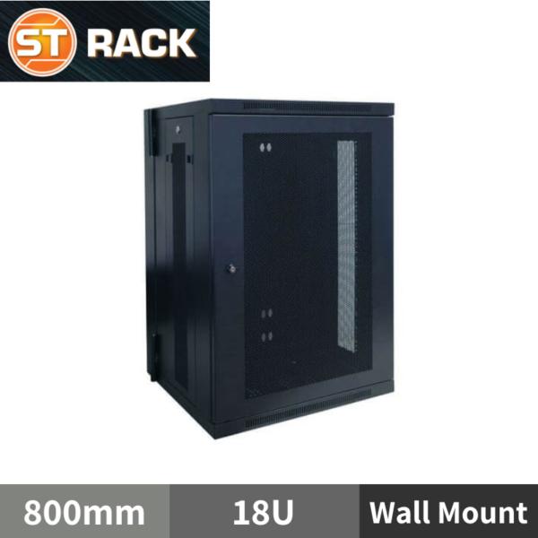 ST RACK WM1868 Wall Mount Rack Enclosure 19'' - 800mm DEPTH (18U)