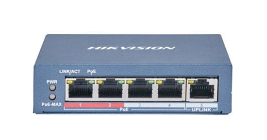 HIKVISION DS-3E0105P-E(B) PRO SERIES 60W 4 PORT 100M LONG RANGE POE SWITCH